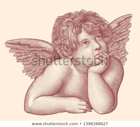 Foto stock: Anjos · imagem · belo · religioso · fundo