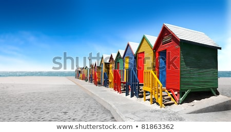 Beach Cabins, Cape Town Stock photo © Vividrange