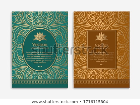 Stockfoto: Gold Ornament On Brown Background Can Be Used As Invitation Car