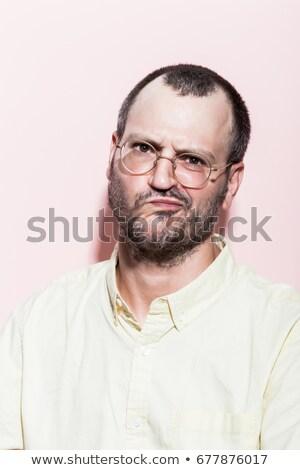 Stock fotó: Portré · férfi · készít · szomorú · vicces · arc · férfi