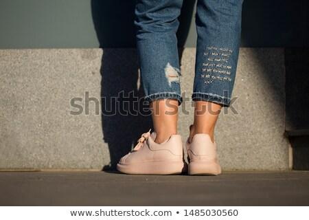 ジーンズ 刺繍 少女 ファッション 青 ファブリック ストックフォト © illustrart