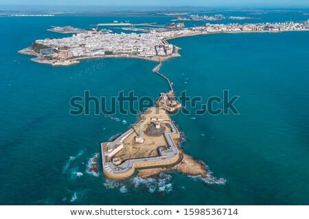 San Sebastian castle lighthouse. Cadiz, Andalusia. Spain Stock photo © Photooiasson