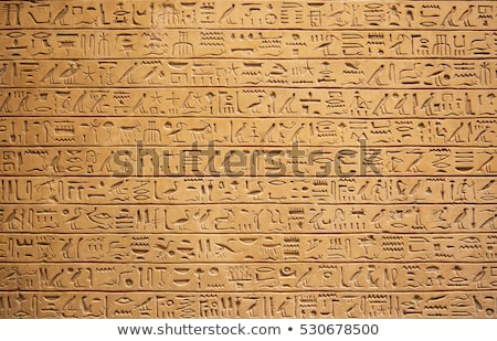 ancient egyptian hieroglyphics stock photo © artspace