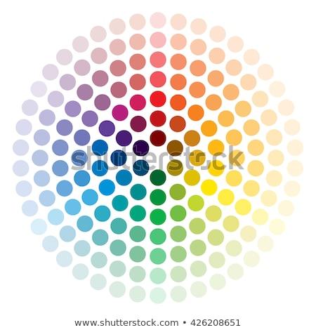 spektrum · logoterv · szivárvány · szín · kör · hurok - stock fotó © shawlinmohd