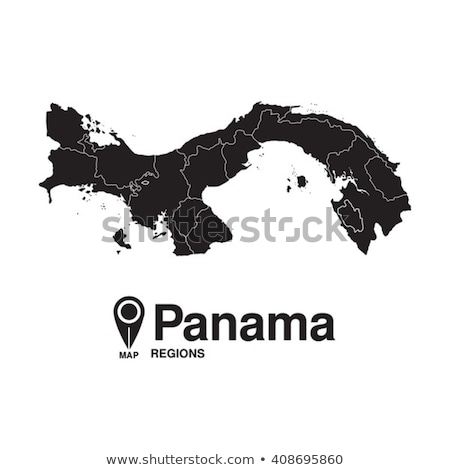 Silhouette carte Panama signe blanche Photo stock © mayboro