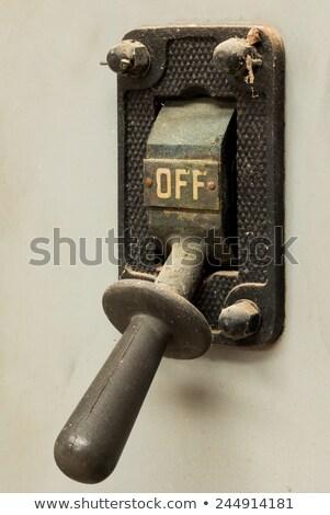 古い オフ スイッチ 1 産業 電源 ストックフォト © rghenry