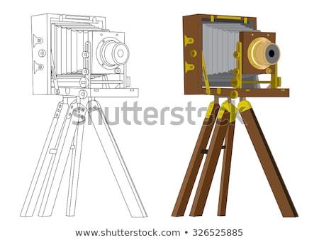 写真 · カメラ · 白 · ミラー · アンティーク - ストックフォト © nelsonart