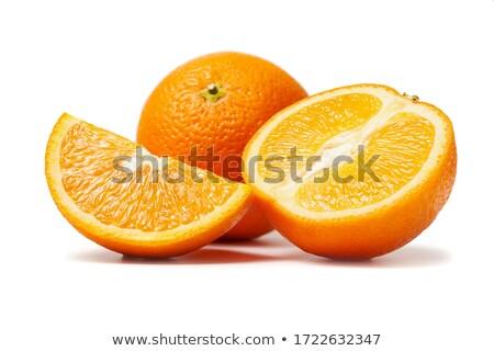 kesmek · portakal · iki · turuncu · ahşap · çanak - stok fotoğraf © oleksandro