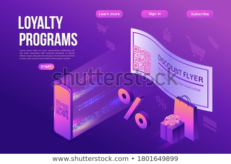 Free Coupon Purple Vector Icon Design Stock photo © rizwanali3d