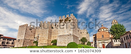 Toscane stad foto algemeen gebouw Stockfoto © Dermot68