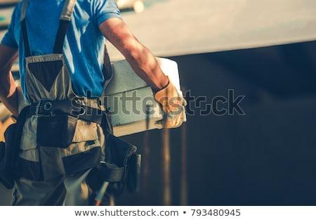 Mãos imagem trabalhando homem textura relaxar Foto stock © akarelias