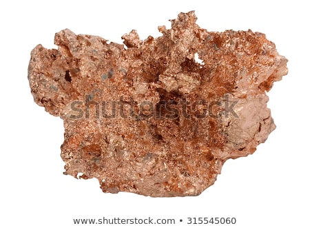 native copper isolated on white background stock photo © pixelman