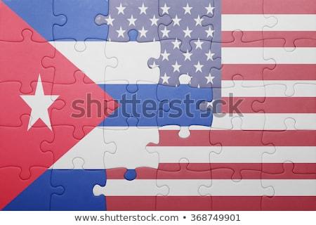 USA Cuba bandiere puzzle vettore immagine Foto d'archivio © Istanbul2009