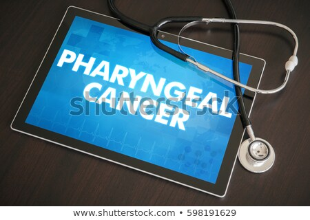 Pharyngitis on the Display of Medical Tablet. Stock photo © tashatuvango