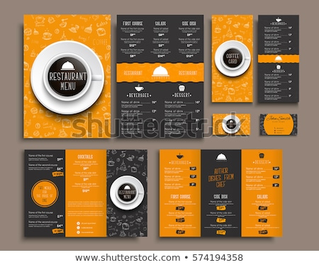 cafe menu template with food and drink prices stock photo © vectorikart