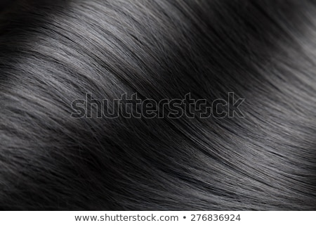 Closeup on luxurious glossy black hair Stock photo © tommyandone