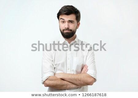Hombre guapo ceja retrato tomados de las manos junto Foto stock © feedough