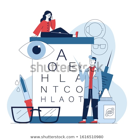 male ophthalmologist with eye chart Stock photo © master1305