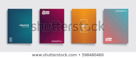 Színes vonalak végtelenített textúra narancs Stock fotó © FOKA
