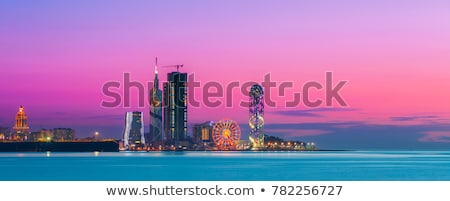 ville · Géorgie · panoramique · vue · port · gare - photo stock © joyr