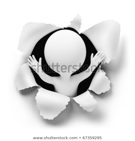 3d small people   surprise stock photo © anatolym