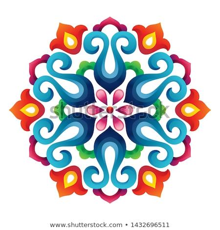 círculo · decorativo · floral · ornamento · pintura - foto stock © balabolka