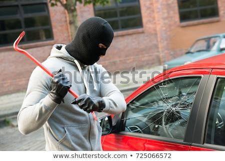 tolvaj · autó · ajtó · ablak · férfi · biztosítás - stock fotó © highwaystarz