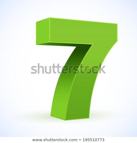 Numara vektör yeşil web simgesi teknoloji web Stok fotoğraf © rizwanali3d
