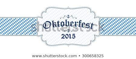 Oktoberfest 2015 alimentare design blu tessuto Foto d'archivio © Zerbor