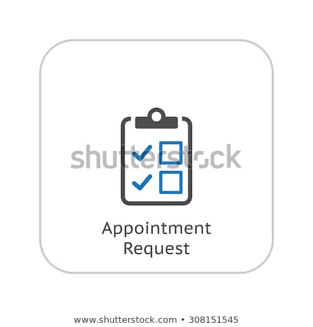 Appointment Request and Medical Services Icon. Flat Design. Stock photo © WaD