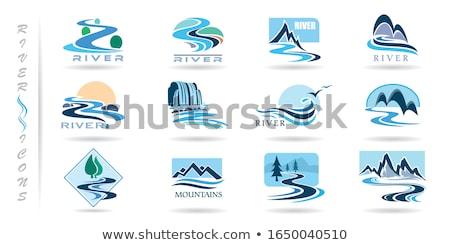 Cascate logo set stilizzato immagini può Foto d'archivio © tracer