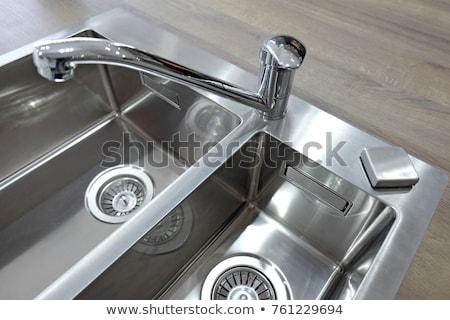 öreg modern rozsdamentes acél csap víz fém Stock fotó © ozaiachin