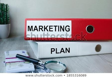 Office folder with inscription Financial Report. Stock photo © tashatuvango