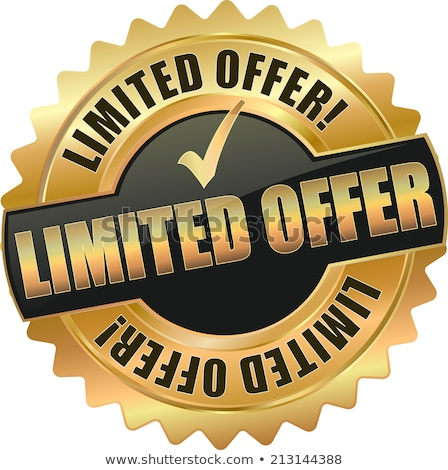 limited time offer golden vector icon button stock photo © rizwanali3d