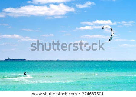 Kite surfen water sport Florida Miami Stockfoto © lunamarina