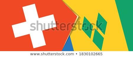 Suíça bandeiras quebra-cabeça isolado branco Foto stock © Istanbul2009
