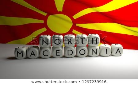 Macedónia país bandeira mapa forma texto Foto stock © tony4urban
