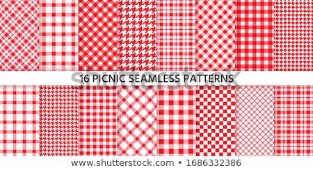 wektora · wzór · piknik · obrus · czerwony · gotowania - zdjęcia stock © smeagorl