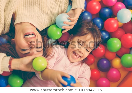 two children in playroom with plastic balls Stock photo © Paha_L