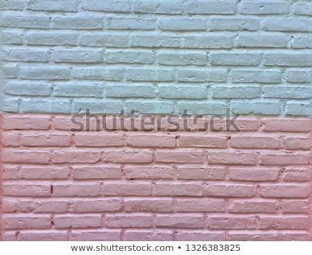 Festett tégla fehér fal textúra absztrakt Stock fotó © Paha_L
