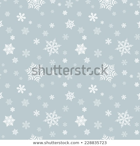 Snowflake Pattern - Snowflake vector pattern. Each snowflake is grouped individually for easy editin Stock photo © rommeo79