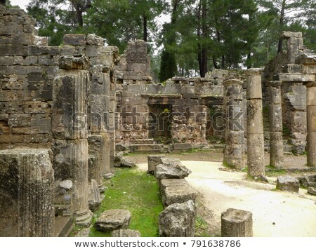 Ruines anciens ville Turquie printemps Photo stock © AntonRomanov