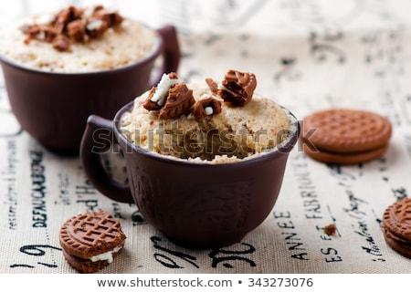 Mug Cake Prepared In Microwave Stok fotoğraf © zoryanchik