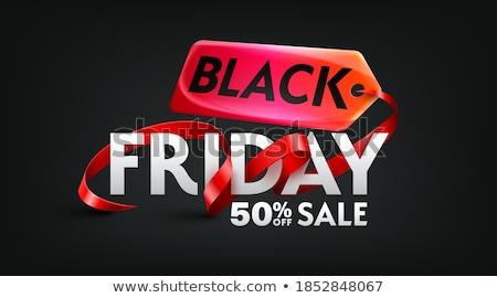 Black friday ruban eps 10 vecteur Photo stock © beholdereye