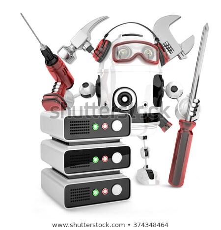 Foto stock: Rede · engenheiro · ferramentas · isolado · tecnologia
