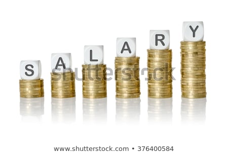 Coin stacks with letter dice - Salary Stock photo © Zerbor