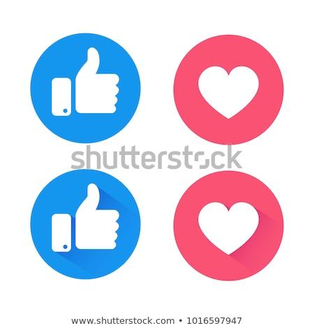 Wie Symbol Daumen up Symbol Internet Stock foto © ikopylov