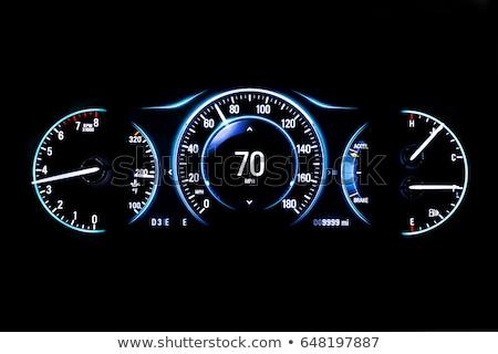 Stock fotó: Autó · hangszer · panel · megvilágított · éjszaka · sebesség