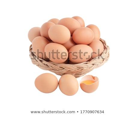 Stok fotoğraf: Sepet · tok · beyaz · yumurta · bir