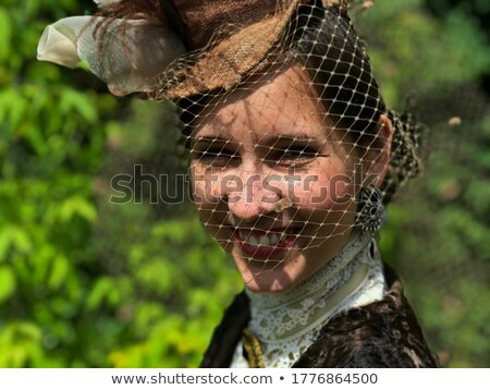 closeup portrait of a beautiful noblewoman stock photo © konradbak